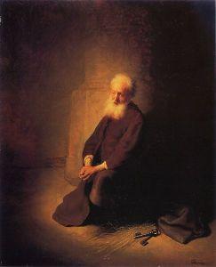 rembrandt-apostle-kneeling